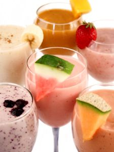 Smoothies In a Wine Glass