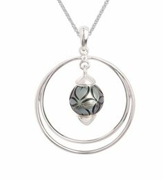 Queen Bead Convertible Double Circle Pendant from Master Jewelers
