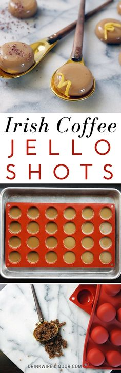 Make It: Irish Coffee Jello Shots Two Ways! Perfect for any winter gathering or for just having a great time! #IrishCoffee