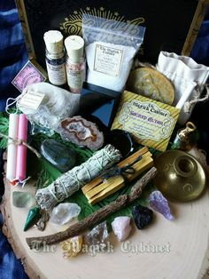 New 10/17/16 - Complete Altar Kit, Witches Altar Kit, Gift Set, Smoke Clearing, Crystals, Pagan, Wiccan, Clearing, Ritual Kit, Witches Box,Witchcraft by TheMagickCabinet on Etsy