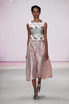 Lela Rose Spring 2016 Ready-to-Wear Fashion Show #metallic