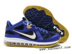 promo code 4481b 42d3c Nike Air Max Lebron 9 Low Shoes Royal Blue Gold 2013 Kobe Bryant Shoes,  Basketball