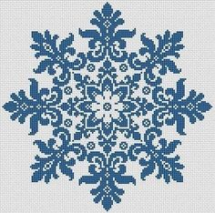 For sale is Large Snowflake Cross Stitch Pattern Floral Snowflake Monochrome Vintage Snowflake Counted Cross Stitch/Filet Crochet in PDF Format. This design is done for 1 color of your choice. Snow represents coldness and hardness in human nature, but the Simple Cross Stitch, Cross Stitch Charts, Cross Stitch Designs, Cross Stitch Patterns, Crochet Patterns, Filet Crochet, Crochet Cross, Mandala Crochet, Crochet Stitch