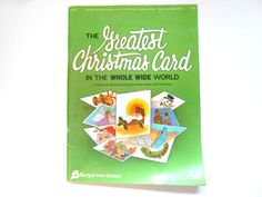 The Greatest Christmas Card, a Vintage Christmas Pageant Book, Music, Costumes