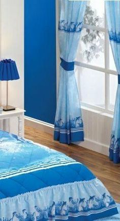 Curtains Set Blue Sea Dolphins By Curtains, Http://www.amazon. Comforter  SetsComfortersDolphinsRoom DecorBedroom IdeasCurtains