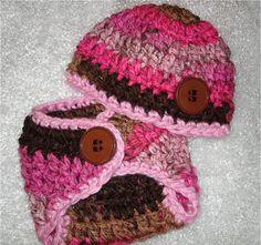 Crochet Baby Set Crochet Baby Diaper Set by SweetnessInSmyrna