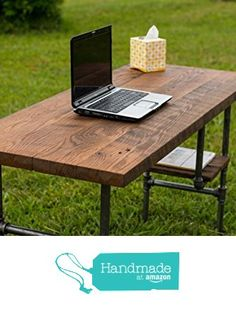 "Reclaimed Wood Desk Table - Rustic Solid Oak W/ 28"" Black Iron Pipe legs. from BeRusticCo https://www.amazon.com/dp/B015NS3FEQ/ref=hnd_sw_r_pi_awdo_HV2rxbB0MSECK #handmadeatamazon"