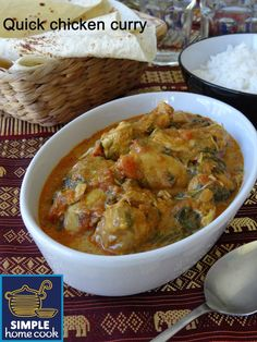 Simple home cook: Quick chicken curry - 5 min prep!