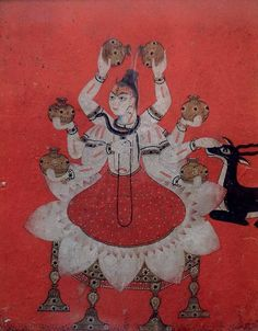 An 18th-century painting of the Hindu god Shiva. Credit Government Museum and Art Gallery, Chandigarh  - NYTimes.com
