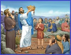 Jesus Feeds The Multitude, Jesus Feeds 5000, Pictures Of Jesus Christ, Bible Pictures, John The Baptist Death, Cain Y Abel, Synoptic Gospels, Holly Bible, Jesus Artwork