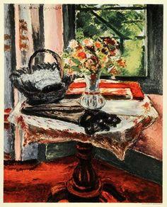 1935, Dunoyer de Segonzac, Garden Through Window, Print | eBay