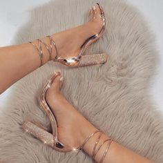 Quality LALA IKAI Women Heeled Sandals Bandage Rhinestone Ankle Strap Pumps Super High Heels 11 CM Square Heels Lady Shoes with free worldwide shipping on AliExpress Mobile Cute Heels, Lace Up Heels, Ankle Strap Heels, Strappy Shoes, Ankle Straps, Strap Sandals, Classy Heels, Ankle Shoes, Stilettos