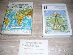 Geographische Entdeckungen Lehrquartett unbenutzt Karten Altenburg DDR