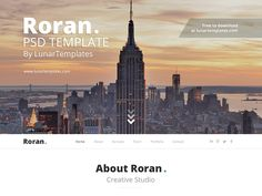 Roran, the free One Page PSD Website Template by Mike Van Hemelrijck