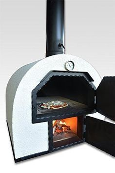 Discover thousands of images about acerto 40239 Pizzaofen Brotbackofen 2 Kammern - Outdoorofen Holzbackofen Flammkuchenofen Gartenofen