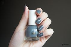 "New H&M Beauty Department nail polish in ""Volcanic Mud"", a beautiful grey shade."