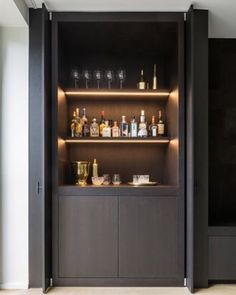 These Home Cocktail Bar Ideas Are Perfect For The Party Season is part of Small Bar cabinet - Raise the bar this holiday season with an ultraglamorous cocktail cabinet or home bar that's bound to cause a stir with guests Home Cocktail Bar, Cocktail Movie, Cocktail Sauce, Cocktail Shaker, Cocktail Recipes, Cocktail Bar Design, Cocktail Bar Interior, Bar Sala, Home Bar Decor