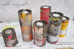 DIY concrete candle holder, Anleitung Kerzenständer aus Beton