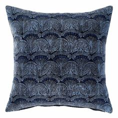 This decorative Kesa Throw Pillow has a beautiful navy blue base. x Cotton Velvet. Joinery Details, Textiles, Technical Drawing, Cotton Velvet, Shades Of Blue, Color Inspiration, Furniture Decor, Design Projects, Color Schemes