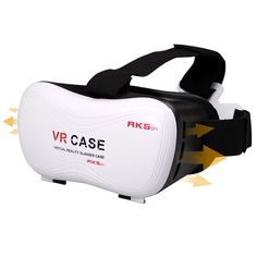 """Tekit® Vr Case 5th Google Cardboard Vr BOX Version Vr Virtual Reality Glasses. Perfectly compatible with 3.5-6.0 inch smartphone market is compatible with more than 90% of the mainstream mobile phone , Samsung note series , iphone5s, iphone6, millet , Huawei and other mobile phones the size of less than 154 * 78mm can be used Diameter 30mm. Phone needs to run Android 4.1 (Jelly Bean) or more versions of Android. It can work with arduino Android ISO system cell phones which can be 4.7""""…"""