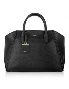 Bolso de piel en color negro de DKNY