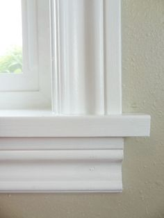 How to Replace Window Trim For finishing new windows or freshening the old window trim & Layered door and window trim molding. chalk and paint so it looks ... Pezcame.Com