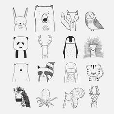 Small Drawings, Doodle Drawings, Easy Drawings, Animal Drawings, Doodle Art, Disney Drawings, Pencil Drawings, Simple Doodles, Cute Doodles
