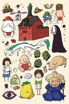 Items similar to studio ghibli spirited away . - Studio Ghibli spiritedly removes that from PenelopeLovePrints Totoro, Ghibli Tattoo, Studio Ghibli Art, Studio Ghibli Movies, Hayao Miyazaki, Chibi, Spirited Away Characters, Personajes Studio Ghibli, Studio Ghibli Spirited Away