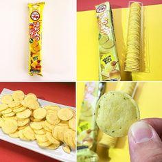 Hachimitsu Butter Sen  Otro item de la caja Samurai!  Un Senbei horneado de textura suave y con maíz añadido. Elaborado con miel dulce y mantequilla abundante para crear un sabor salado.  Se ha espolvoreado queso en polvo por encima junto con virutas de perejil.  IMPERDIBLE!  #BFJNoviembre: www.boxfromjapan.com  #BoxFromJapan #Senbei #mantequilla #galleta #butter #miel