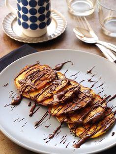 Banánpalacsinta liszt nélkül - DESSZERT SZOBA Winter Food, Cake Cookies, Grilling, Clean Eating, Paleo, Pork, Food And Drink, Low Carb, Sweets