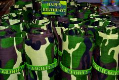 Army/Camouflage, Military, Boot Camp Birthday Party Ideas | Photo 1 of 34 | Catch My Party