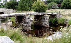 The Clapper Bridge at Postbridge, in Dartmoor Old Bridges, Dartmoor National Park, Local Legends, Tavistock, South Devon, Arch Bridge, Garden Bridge, Paths, Garden Sculpture