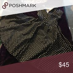 Dress Polka dots, ties in back, collared dress. Only worn once Dresses Maxi