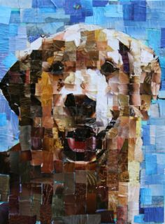 Mixed Media Collage, Collage Art, Painting Inspiration, Art Inspo, Art Pictures, Art Pics, Magazine Collage, Dog Crafts, Dog Portraits