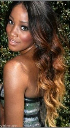Full Lace Brazilian Virgin Two Tone Natural/3/27A Wavy Human Hair Wig 20""