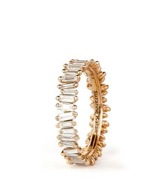 Shop :: PRODUCT LINE :: RINGS :: 18K ROSE GOLD BAGUETTE BAND - Suzanne Kalan