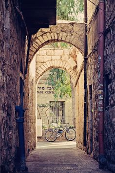 Jerusalem Alley with Bicycle - Art Print by Around the Island Photography on Society6