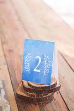 FREE watercolor table number printable