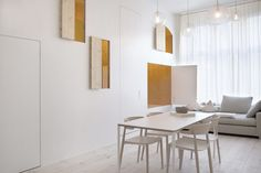 Hideout Hotel Rooms By Sigurd Larsen – iGNANT.de interieur luik diy wit hout multiplex ruimte concept gordijnen tafel stoelen
