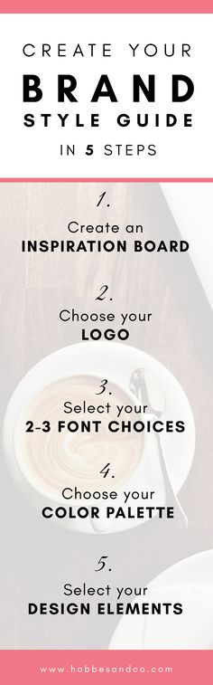 Online Photography Jobs - Create your Brand Style Guide in 5 Steps via Photography Jobs Online Personal Branding, Branding Your Business, Marca Personal, Business Tips, Corporate Branding, Successful Business, Business Goals, Craft Business, Business Quotes