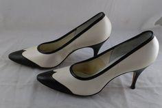 Vintage 1960s Black and White De Liso Debs High Heel by TheOldElf #GotVintage #Vintage #Fashion