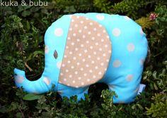 Fabric Elephant (from free pattern - cosido con patrón gratis)