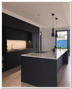 42 inspiring modern luxury kitchen design ideas 6 - Kitchen Ideas - Home Elegant Kitchens, Black Kitchens, Luxury Kitchens, Luxury Kitchen Design, Interior Design Kitchen, Modern Interior Design, Home Decor Kitchen, New Kitchen, Kitchen Ideas