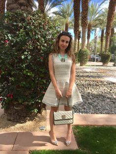 #statementnecklace #piperlime #tweeddress #anneklein #handbag #samedelman #heels #ootd