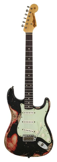 Fender Custom Shop 1960s Stratocaster Relic Black Over Candy Apple Red