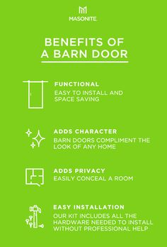 Instantly transform a room, adding functionality and character to any space with Masonite Complete Barn Door Kits. Learn more about sliding barn doors and how to install one in your home. Farmhouse Interior, Interior Barn Doors, Interior And Exterior, Diy Barn Door, Cheap Home Decor, Home Remodeling, Compliments, Home Improvement, Door Kits