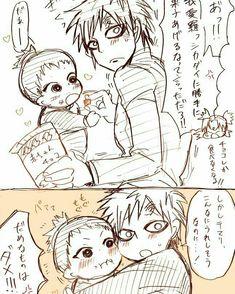 Although i cant really understand Japanese but Shikadai looks super kawaiiiiiii with Gaara