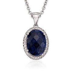 Angara London Blue Topaz Halo Pendant with Diamond Heart Motif 9CwfP75