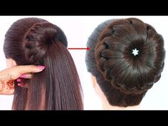 new bun hairstyle for wedding and party trending Hairstyles For Gowns, Easy Bun Hairstyles, Heatless Hairstyles, Simple Wedding Hairstyles, Trending Hairstyles, Party Hairstyles, Girl Hairstyles, 5 Minute Hairstyles, Hairstyles Videos