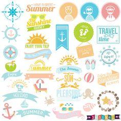 INSTANT DOWNLOAD Summer Symbol Digital ClipArt  by SasiyaDesigns, $5.00